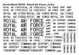 Royal Airforce & Army Lettering - Black